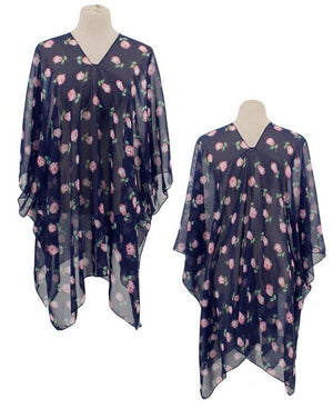 Summer Roses Poncho