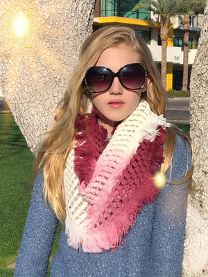 Ombre Waffle Scarf