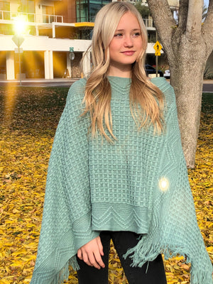 Teen Solid Color Poncho