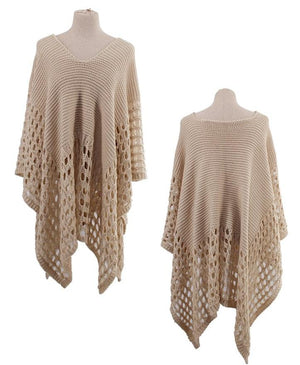 Knit Crossover Poncho