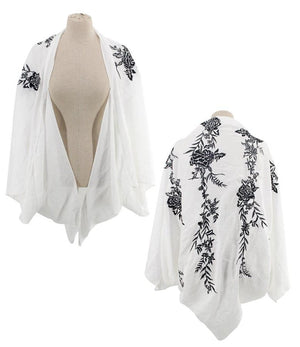B&W Flower Shrug