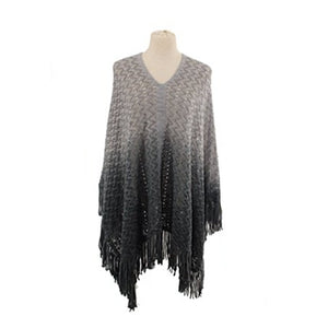 Simple Ombre Poncho