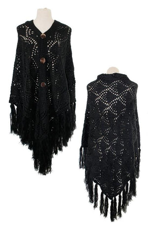 Crotchet Ruana with Fringe