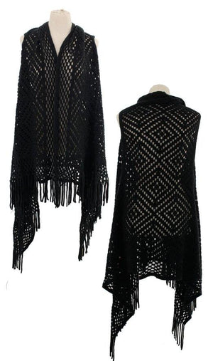 Fall Vest with Tassels