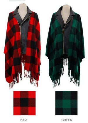 Basic Plaid Ruana