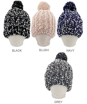 Loose Knit Heather Beanie
