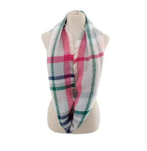Kid's Plaid Infinity Scarf