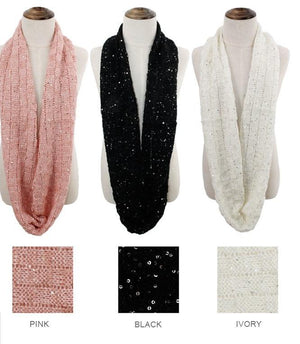 Kid's Sequined Infinity Scarf