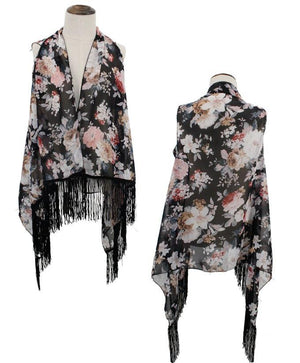 Kid's Floral Vest with Tassels