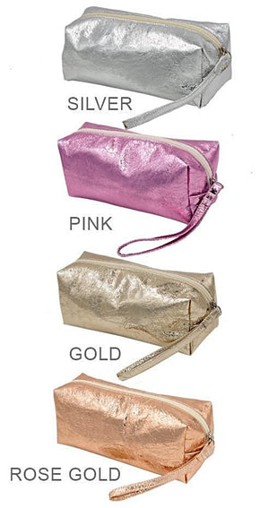 Solid Metallic Cosmetic Bag