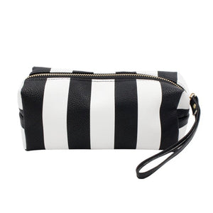 B&W Striped Pouch
