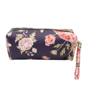 Peony Print Pouch