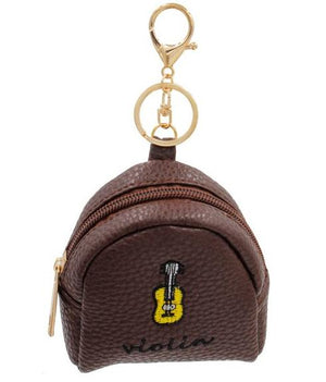 Violin Key Chain Coin Purse