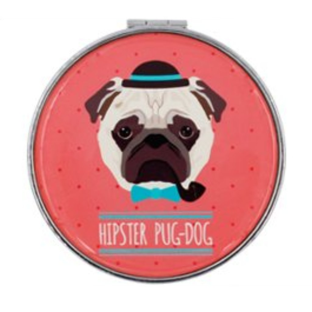 Hipster Pug-Dog Mirror