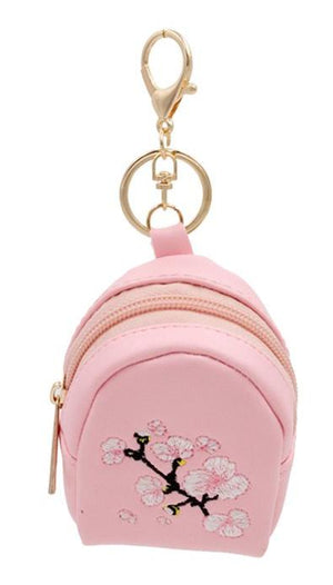 Cherry Blossom Key Chain Coin Purse