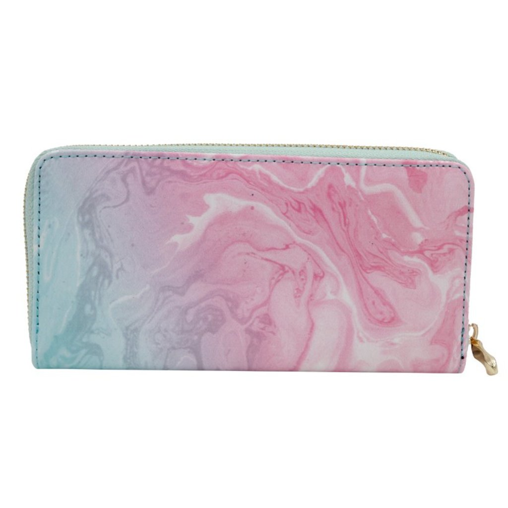 Multi-Colored Marbled Wallet