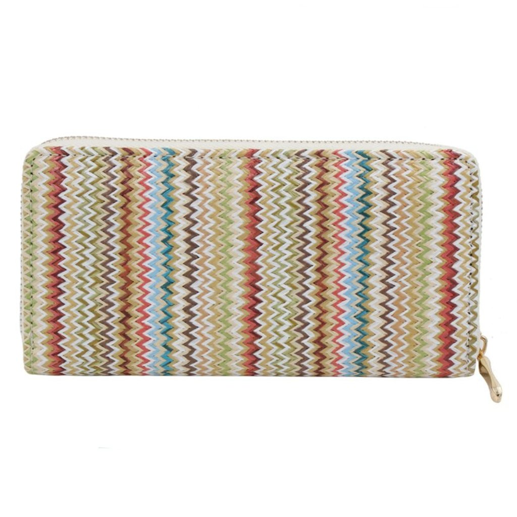 Woven Multi-Colored Striped Wallet
