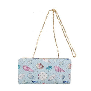 Sea Shell Print Wallet with Strap