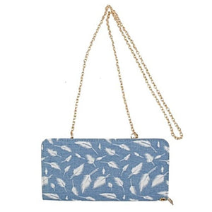 Wanderlust Feather Print Wallet
