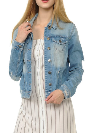 Stone Washed Denim Jacket