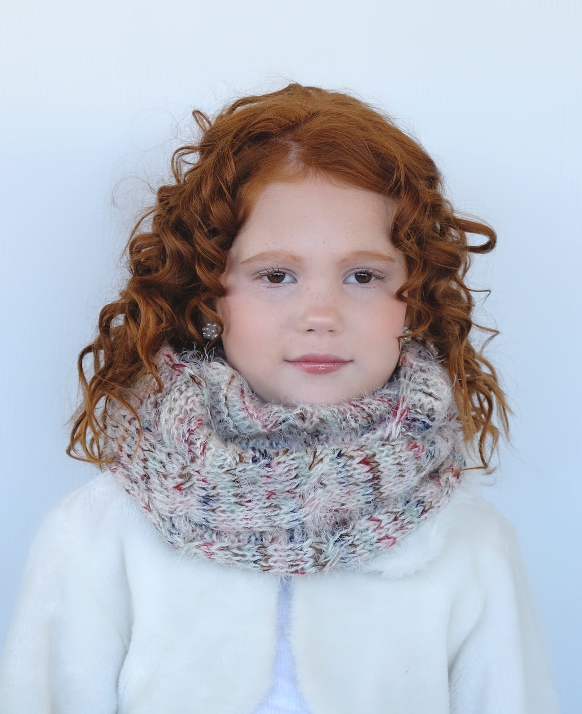 Kid's Purl Knit Infinity Scarf