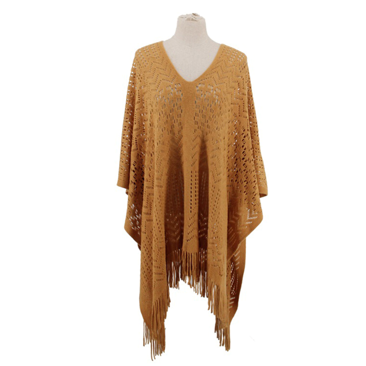 Ornate Cut-Out Poncho