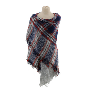 Ombre Plaid Blanket Scarf