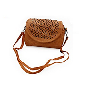 Studded Floral Cutout Crossbody Bag