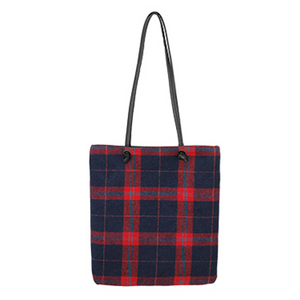 Plaid On-the-Go Tote Bag