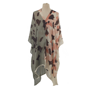 Two-Toned Camo Ruana