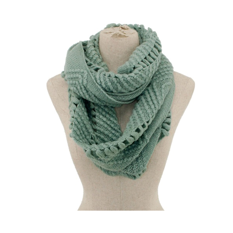 Cut-Out Infinity Scarf