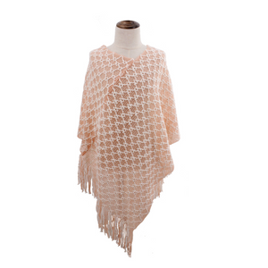 Kid's Knit Tassel Poncho