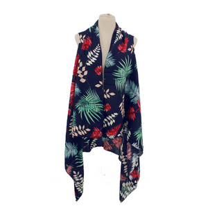 Tropical Palm Tree Printed Vest
