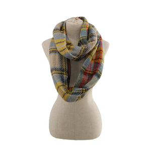 Two-Toned Plaid Scarf