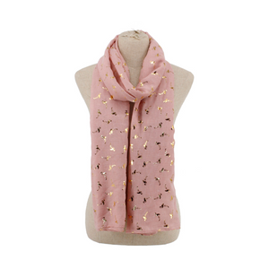 Kid's Flamingo Print Scarf