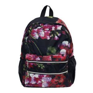 Floral Double Zipped Backpack