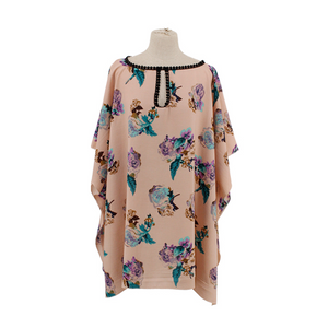 Rose Poncho with Cut-Out