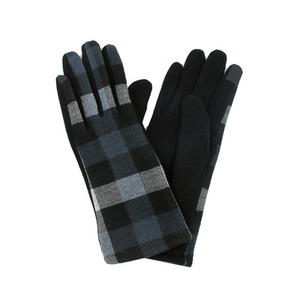 Dark Plaid Gloves