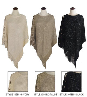 Lace Up Poncho