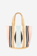 Jute Bag Blush and Blue