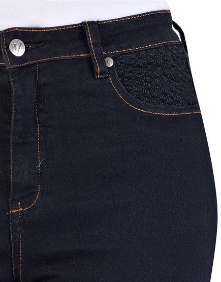 Basketweave Jeans - Black denim