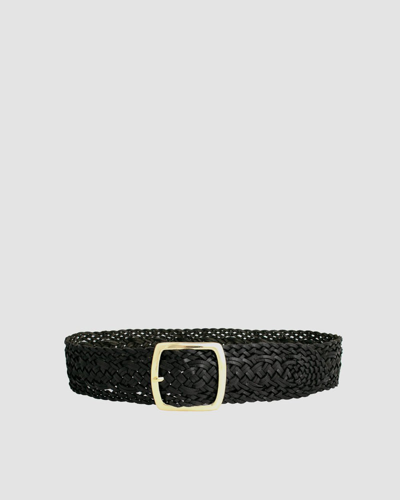 Tivoli Leather Belt Black