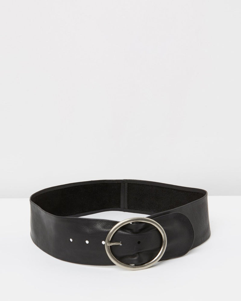 Peyton Leather Belt Black