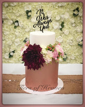 Load image into Gallery viewer, Engagement Cake with Flowers and Topper