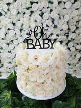Load image into Gallery viewer, Floral Baby Shower Cake