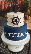 Load image into Gallery viewer, Nautical birthday cake anchor wheel