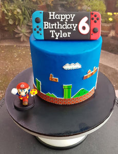 Nintendo switch birthday cake super mario video game