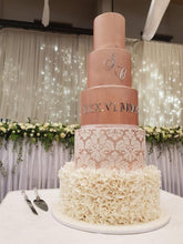 Load image into Gallery viewer, Rose Gold Wedding Cake