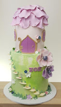 Load image into Gallery viewer, Fairy house birthday cake