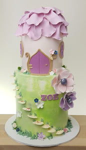 Fairy house birthday cake